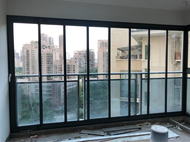 隔音全开窗封阳台窗无框阳台窗窄框全景折叠窗铝合金落地玻璃窗