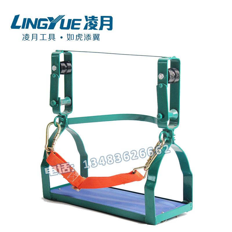 新款双轮高空吊椅 铁轮钢绞线滑车 尼龙轮滑椅 胶轮滑椅 滑板吊椅