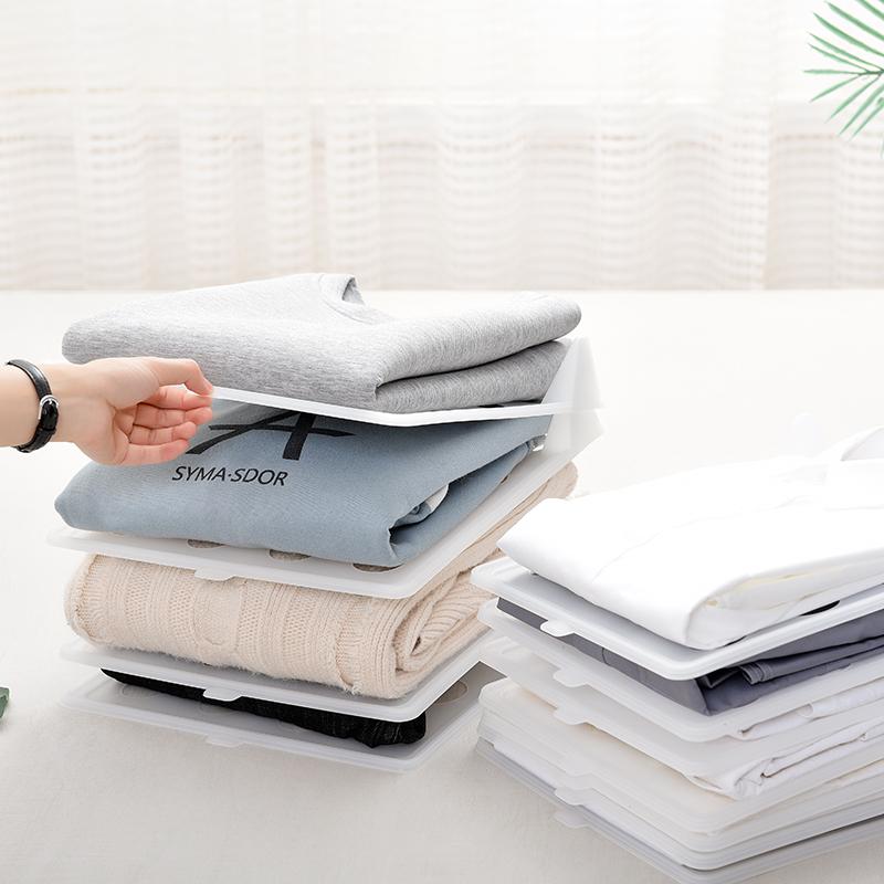 日式衣柜收纳叠衣板创意家用叠衣服神器T恤衬衫收纳整理架防皱