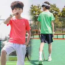 T恤儿童夏装 男大童短袖 短T中大童户外运动衫 2019新款 男孩速干衣潮