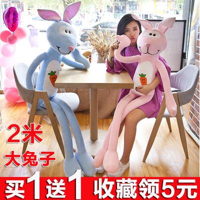 可爱胡萝卜兔小兔子毛绒玩具大号兔子公仔女生娃娃萌韩国懒人抱枕