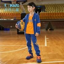 乔丹童装儿童运动套装男童2019春秋装新款中大童男孩休闲服两件套