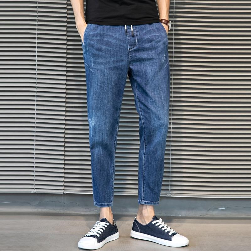 哈伦牛仔裤男裤