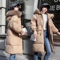 反季羽绒棉衣服女加厚ins面包服女中长款棉袄2018新款冬天外套女