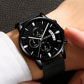 正品卡诗顿手表 男士运动石英表防水时尚潮流夜光皮带男表手腕表
