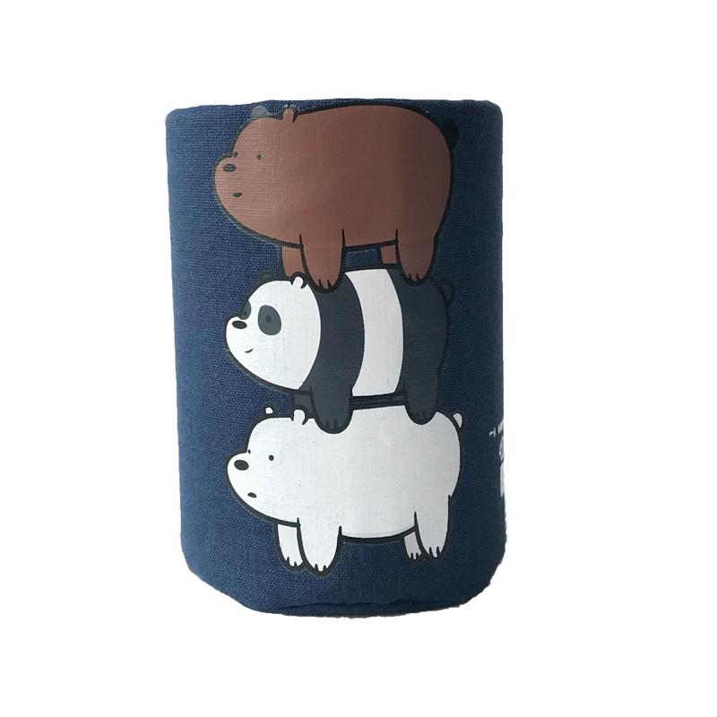创意时尚笔筒韩国小清新学生办公多功能桌面收纳盒可爱裸熊笔筒