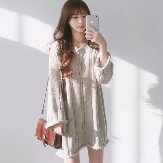 韩国毛线衣裙