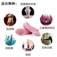 Adult dance shoes children's female soft bottom shoes men's plus velvet cat claw dance shoes white red girls ballet shoes