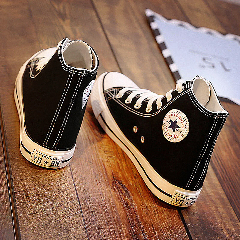 帆布鞋高帮学生版