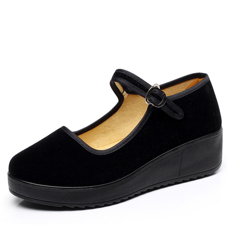 松糕鞋黑色