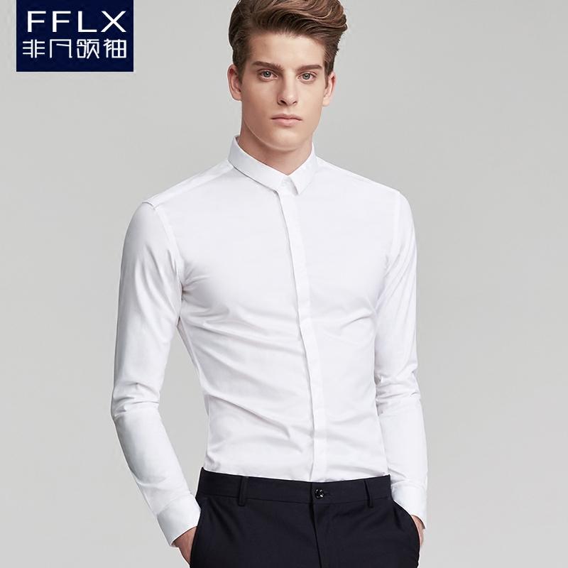 门襟长袖衬衣