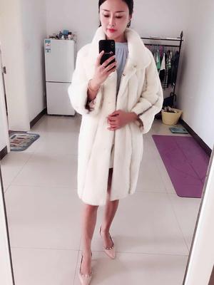 芊羽蓓貂皮大衣女士2018新款皮草外套显瘦年轻时尚中长款进口韩版