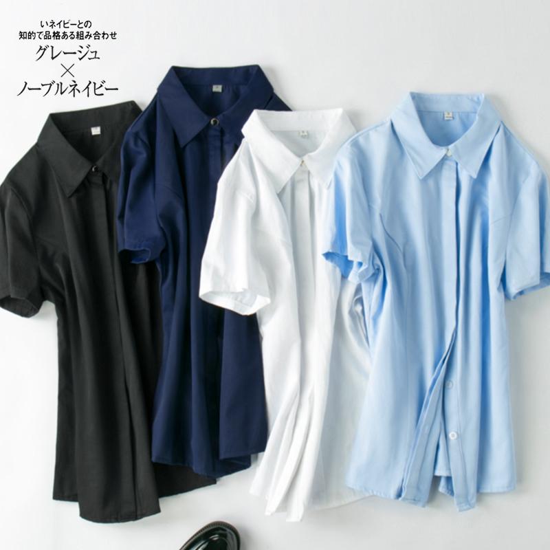 职业套装女时尚气质2019新款夏季面试正装工装工作服白色衬衫套裙