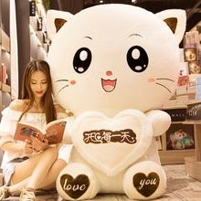 猫咪毛绒玩具可爱大布娃娃公仔抱着睡觉床上玩偶抱枕女孩生日礼物图片