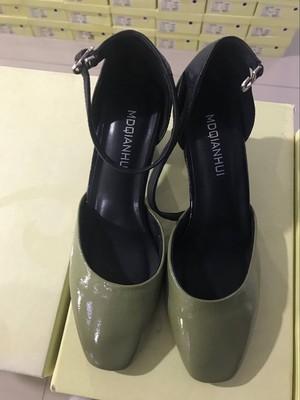 小鹿家 2018新款  女士真皮凉鞋 高跟凉鞋 1807079