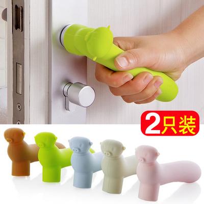 门把手防撞垫保护套2只装儿童安全硅胶门把手套宝宝房门拉手防碰