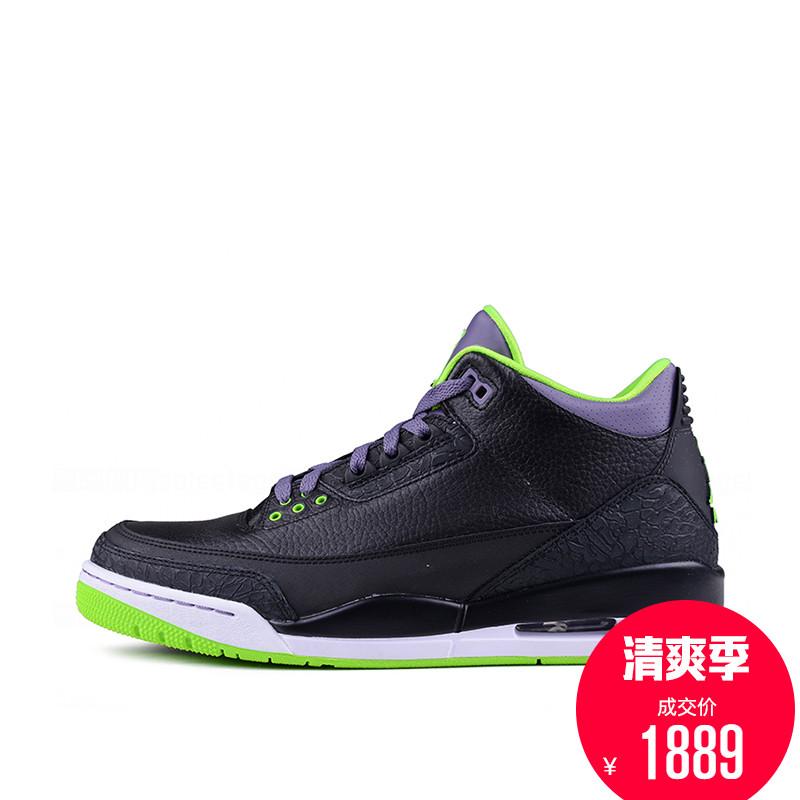 Air Jordan 3 RETRO AJ3乔3 黑绿男子篮球鞋男鞋 136064-018