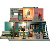 Diy hut Korean version of handmade creative adult small house villa model net red cafe birthday gift female