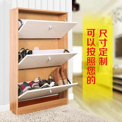 可定制定做17 24超薄翻斗鞋柜子简约现代储物门厅环保大容量包邮
