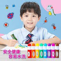 儿童点点画笔环保无毒创意涂鸦填色幼儿园画笔套装礼盒