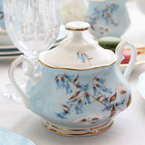 Anna 16:00 English bone china ceramic teapot English afternoon tea coffee maker Continental pastoral Tea Set