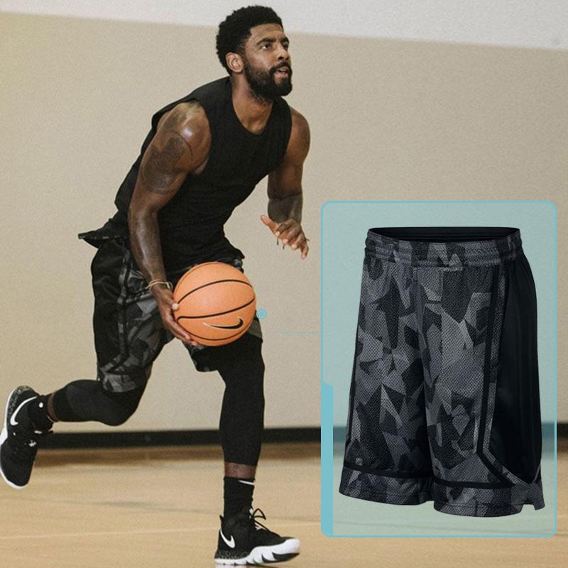 KI篮球短裤男运动休闲裤2019夏季迷彩跑步裤速干透气宽松五分裤子