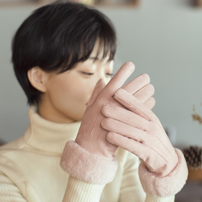 冬季女士保暖手套