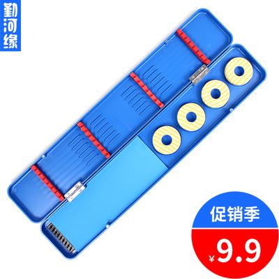 勤河缘 多功能漂盒 浮漂盒 主线盒 绕线盒 渔具盒 双层45cm塑料盒