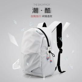 双肩包男简约个性书包女韩版时尚潮流休闲电脑包户外旅行轻便背包图片