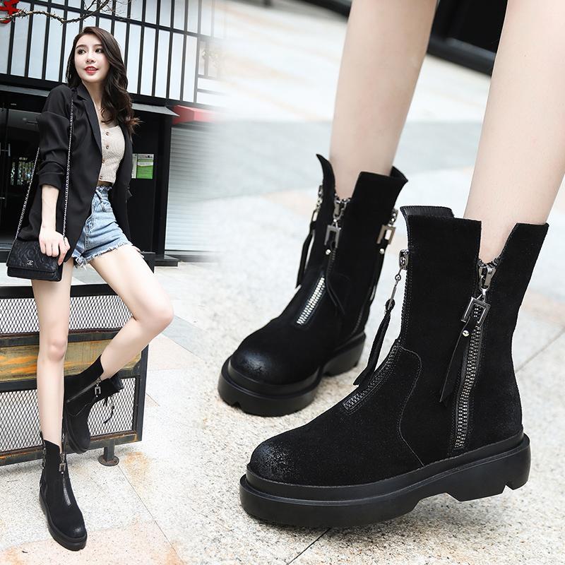 韩国复古系带短靴
