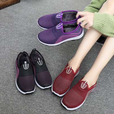 新款老北京布鞋女鞋平跟软底休闲鞋女棉鞋一脚蹬学生鞋防滑运动鞋