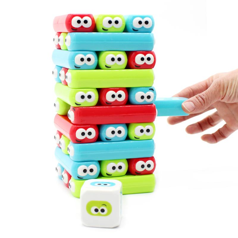 小乖蛋数字叠叠高积木成人版抽抽乐儿童益智叠叠乐层层叠亲子玩具