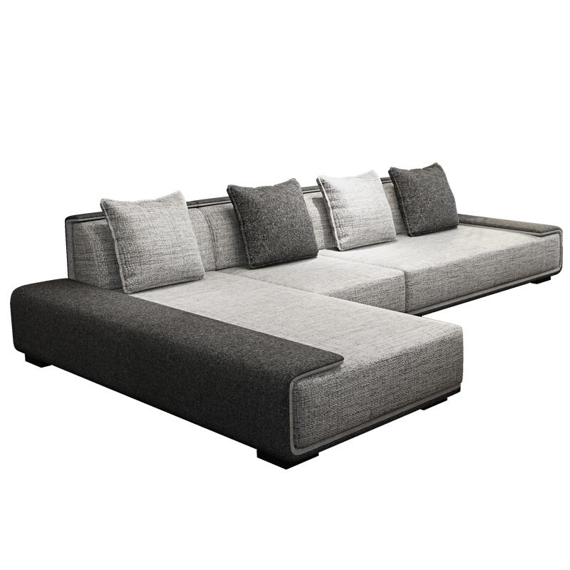 布艺沙发北欧简约现代小户型客厅转角L型可拆洗1+2+3家具组合套装
