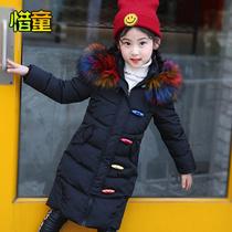 女童棉衣2018新款童装女冬装儿童加厚外套大衣中大童棉服棉袄上衣