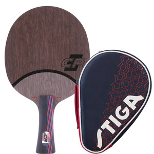 正品斯蒂卡乒乓球拍红黑碳王7.6 cr wrb直拍横板斯帝卡乒乓球底板