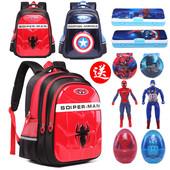 小学生书包1-3-6年级美国队长蜘蛛侠儿童6-12周岁幼儿园双肩书包
