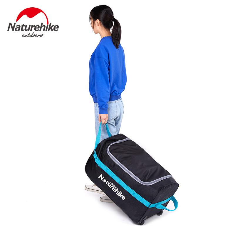 区】NH折叠行李箱带轮子大容量旅行包行李包收纳包户外装备收纳袋