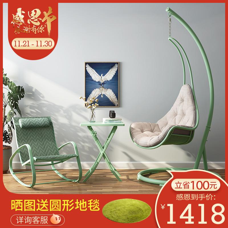 MWH曼好家室内成人秋千吊椅吊篮摇椅成人阳台摇椅北欧家用摇篮椅