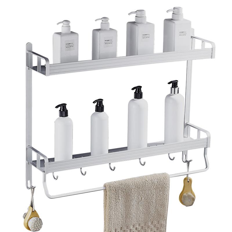 浴室置物架免打孔壁挂式毛巾厕所洗手间墙上洗澡三角形收纳卫生间