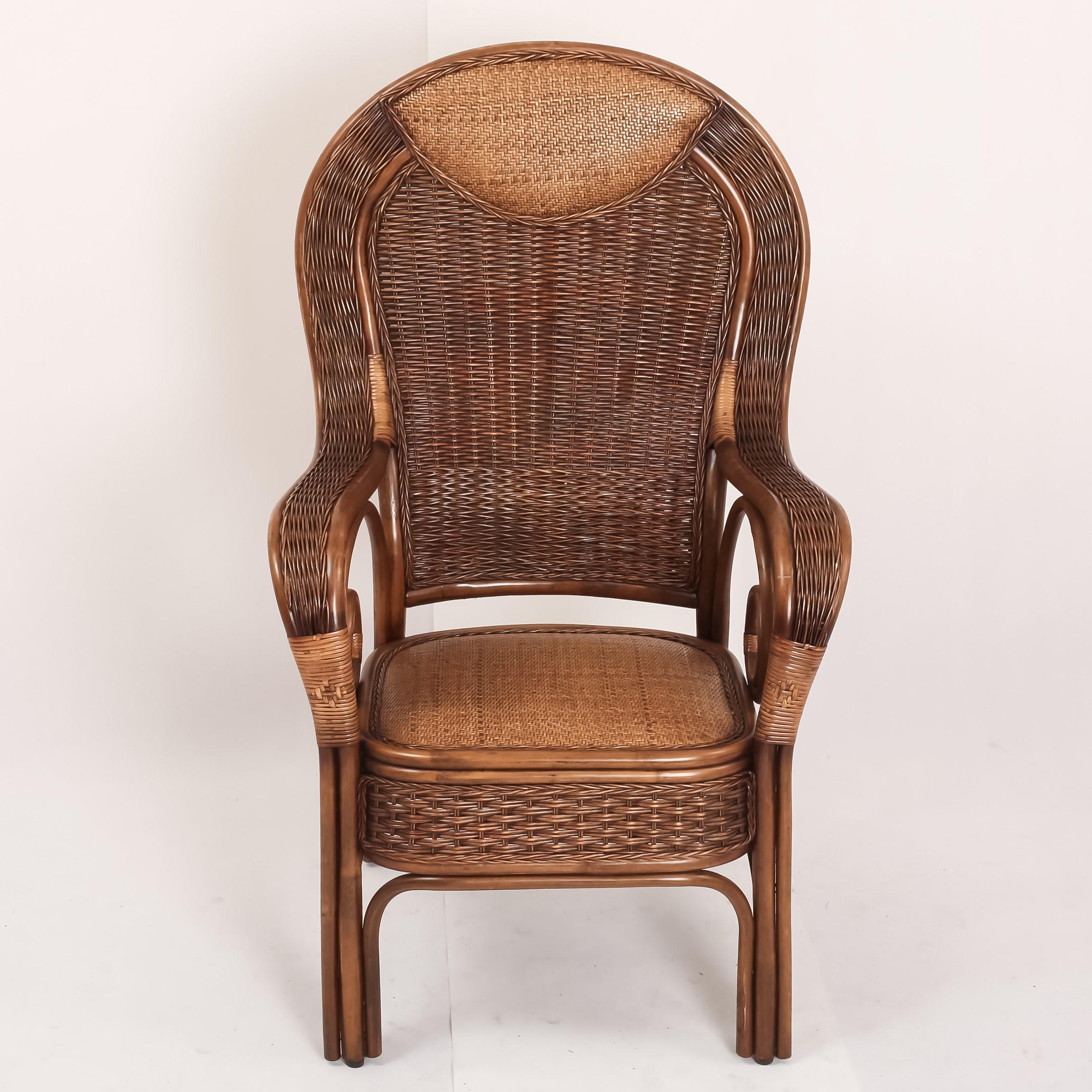 藤编手工藤椅豪华办公椅高靠背藤椅大班椅老板椅高档椅