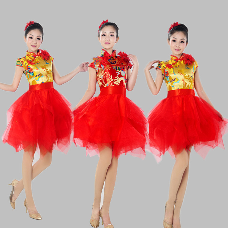 modern dance costume 2018 new Chinese style allegro costumes drums