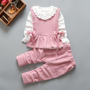 童装春装女宝宝套装婴儿韩版0-1-2-3周岁女童三件套春秋季婴儿装