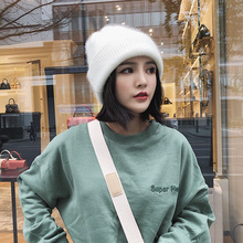 Hat Female Winter Korean Edition Chao Baitao 2008 Korean Autumn and Winter Thickening Student ins White Knitted Wool Cap