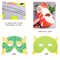 Children's cartoon animal mask headdress Kindergarten parent-child activities dress up tiger rabbit monkey cat wholesale