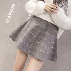 毛呢半身裙冬蓬蓬裙