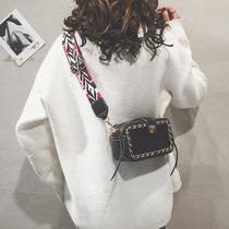 欧美时尚2018秋冬新款仿貂毛包包斜跨链条皮草毛毛包包豹纹手提包