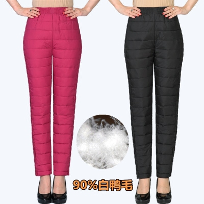 中年女外穿羽绒裤