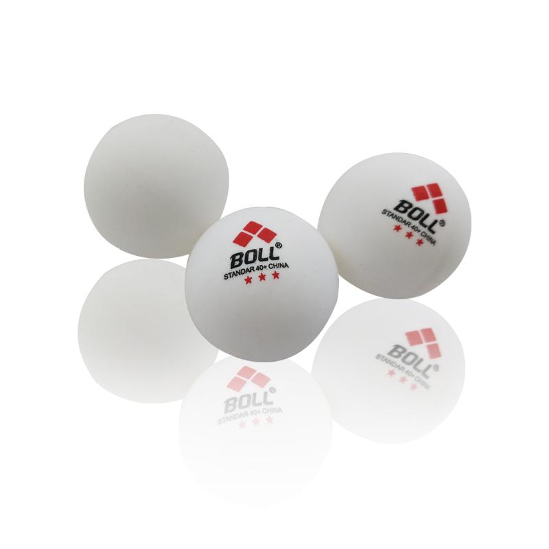 耐打BOLL乒乓球ppq训练用球40+mm三星级散装3个装白色黄色乒乓球