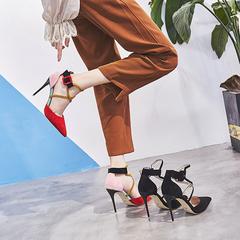性感交叉绑带高跟鞋