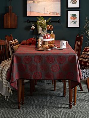 餐桌布套装格子